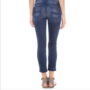 7 For All Mankind Kimmie Crop Jeans. Size 27.